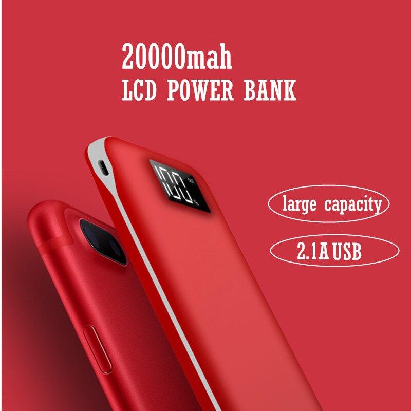 imágenes para NUEVA pantalla powerbank móvil 20000 mAh banco de la energía del tesoro cargador para todos los teléfonos Android y el iphone para la salida rápida