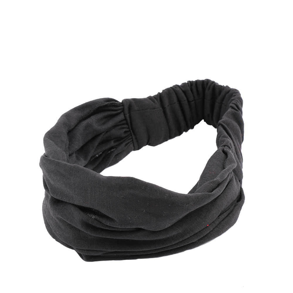 2019 venda quente da moda feminina elasticidade completa do vintage ampla cabeça bandana envoltório lenço topos lenço de cabelo acessórios para o cabelo