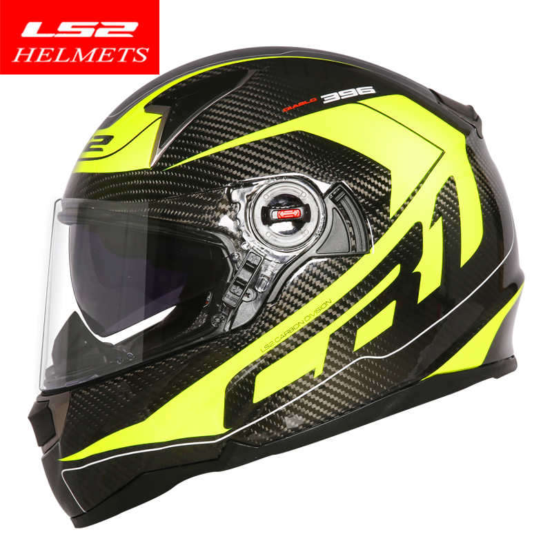 100 Original LS2 FF396 motorcycle helmet Carbon fiber material ECE full face motorcycle helmet authentic wear