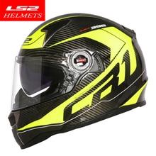 100% Оригинальные LS2 FF396 мотоциклетный шлем углеродного волокна материал ECE анфас мотоциклетный шлем Аутентичные носить очки дизайн