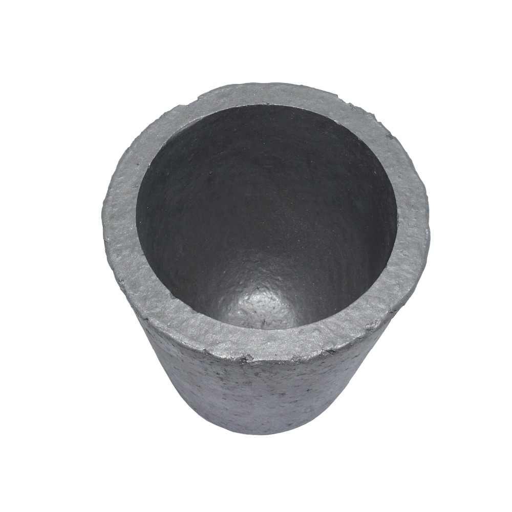Graphite Crucible Cup Propane Torch Melting Gold Silver Copper Metal AL v ov