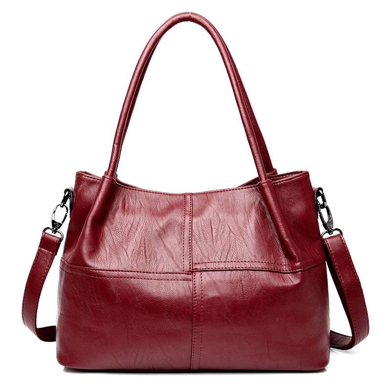 Chu JJ Women's Genuine Leather <font><b>Handbags</b></font> Fashion Patchwork Big Size Shoulder CrossBody Bags Ladies Messenger Bag Women Tote Bags