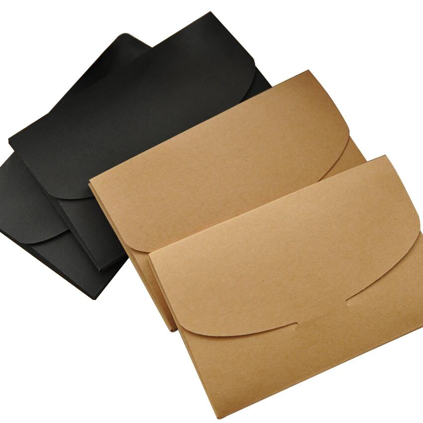 10pcs/lot New Vintage Kraft Paper DIY Multifunction Envelope Postcard Bag Package Box Students Diy Tools Packaging Box Wholesale