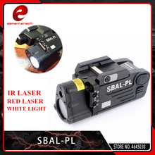 цены Element Tactical Laser Flashlight SBAL-PL Hunting Weapon Light Airsoft Red Laser Pistol Constant & Strobe Light Picatinny Rail