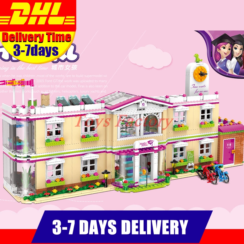 все цены на DHL XINGBAO 12001 New 1750Pcs City Girl Series The Happy Teaching Building Set Building Blocks Bricks Funny Toys