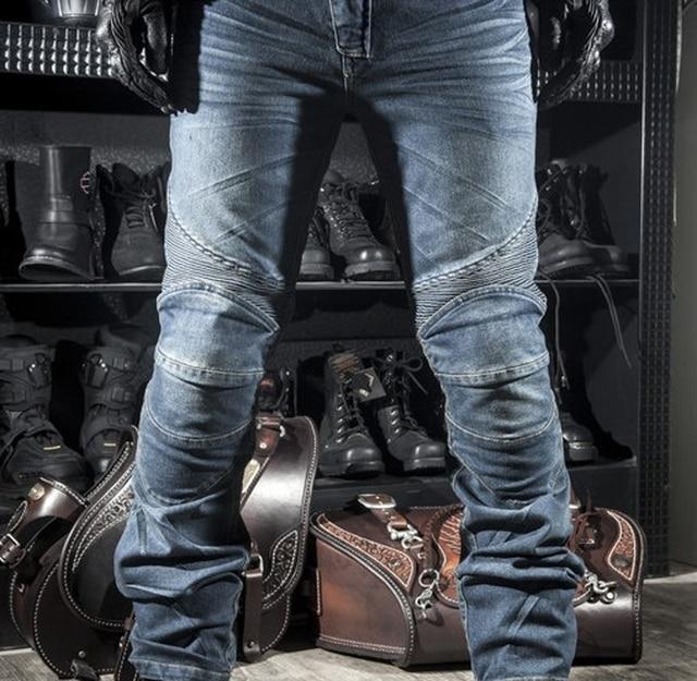 Classic KOMINE Motorcycle Jeans Drop Resistance Slim Denim Cycling Racing Pants Motocross Off-road Hockey Pants with Protector 1