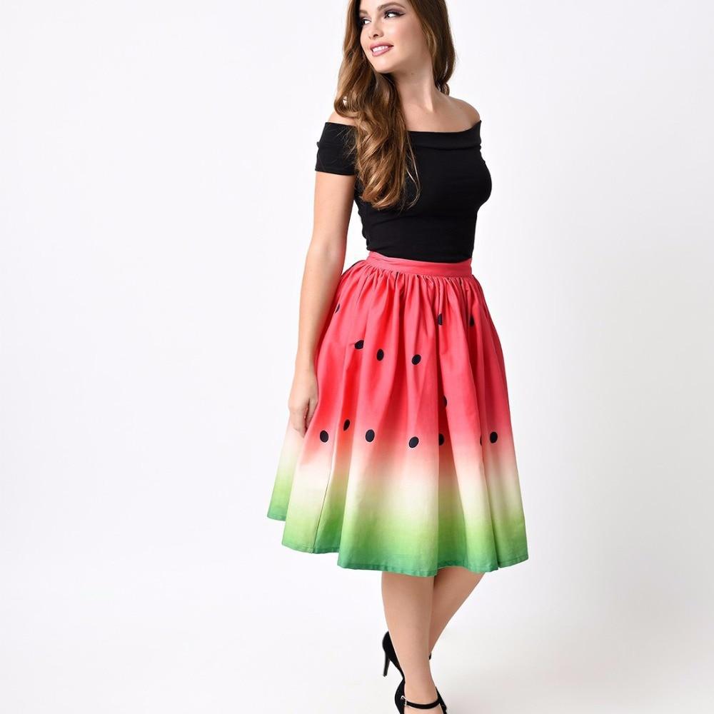 Uppin юбка женская новые летние Мода печатных юбка-пачка Для женщин Высокая Талия Цветочный принт миди юбка девушки бальное платье плиссированные юбки Дамы юбка плиссированная