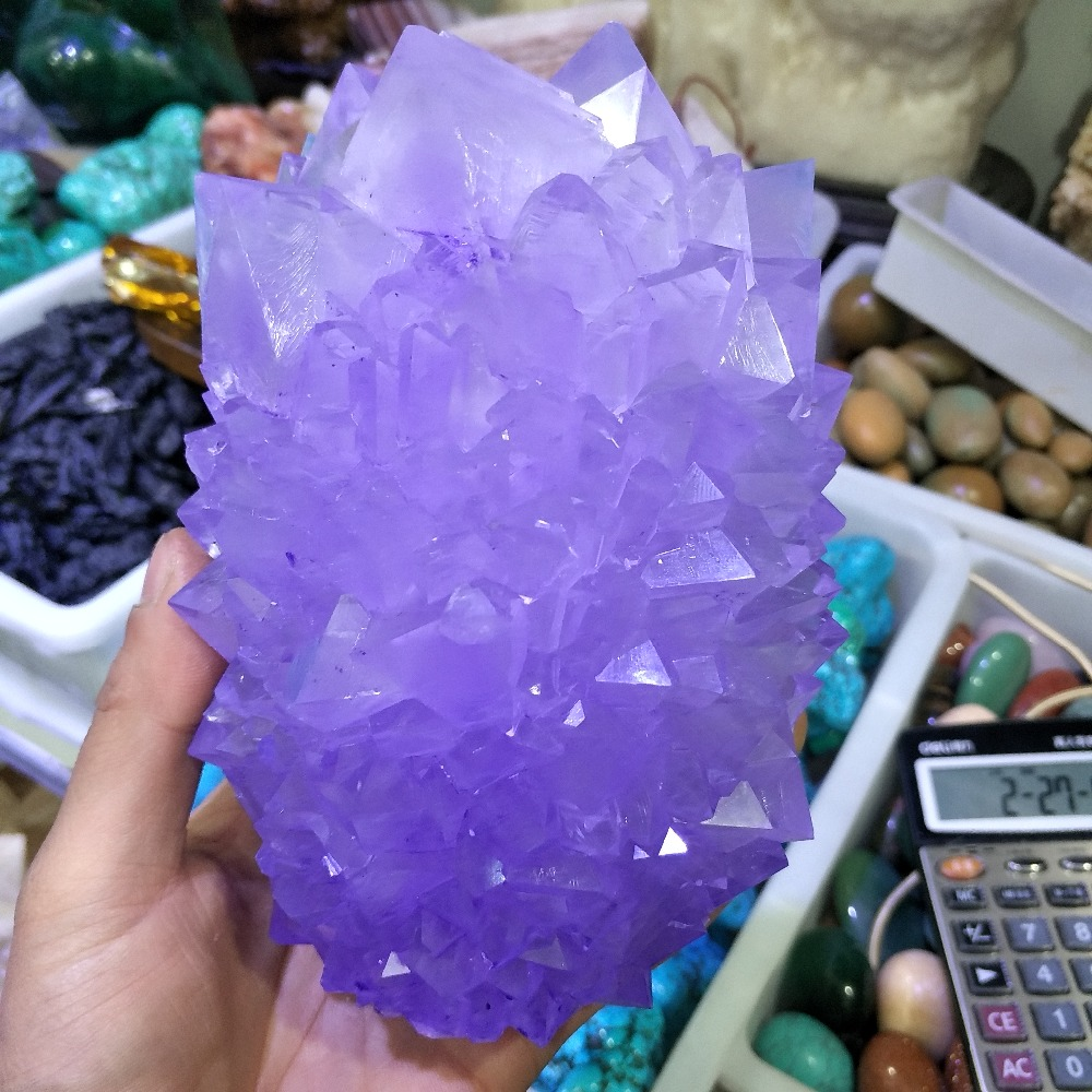 Hot!!! 1100g Rare and beautiful purple quartz crystal crystal cluster used for home decoration wedding decoration aquariumHot!!! 1100g Rare and beautiful purple quartz crystal crystal cluster used for home decoration wedding decoration aquarium