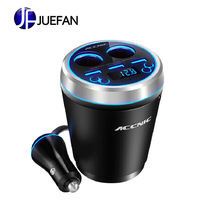 Car charging cup type Bluetooth car charger three USB mobile phone one for two cigarette lighter car mp3