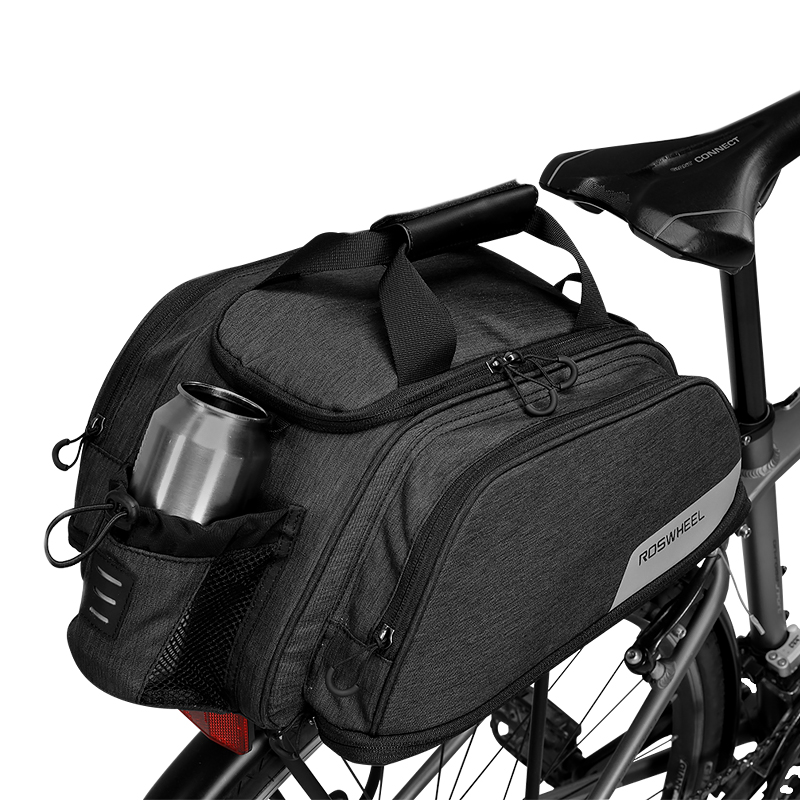 11L ROSWHEEL 141472 Mountain Road Bike Bicycle Cycling Rear Seat Rack Trunk Bag Pack Pannier Carrier Shoulder Bag Handbag roswheel 14892 mountain road bicycle bike 3 in 1 trunk bags cycling double side rear rack tail seat pannier pack luggage carrier