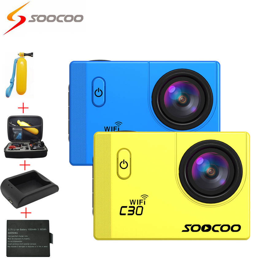 [Battery+Charger+Bag+Floaty] SOOCOO C30 4K Wifi Action Sport Camera angles(70-170 Degrees) 2.0 LCD Video Cameras deportiva Cam