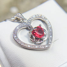 Exquisite rhinestone chain single zircon 925 sterling silver flower heart necklace female fashion accessories Plata jewelry(China)