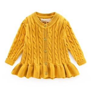 Image 2 - Dziecko zima sweter wiek dla 1 8 proste grube ciepłe dzieci swetry 2019 nowa wiosna dziecko bluzki z dzianiny słodkie maluch dziewczyna czerwony sweter