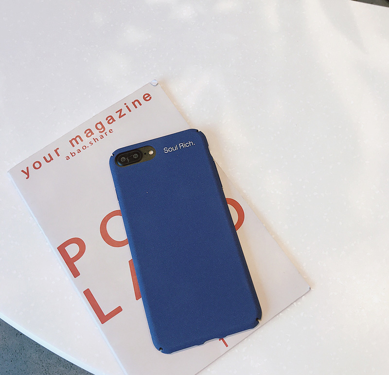 Mr.orange Simple Pure Color Atmosphere Business Blue for Apple X Mobile Shell iphone7plus/8/6s All-inclusive Scrub Men and women