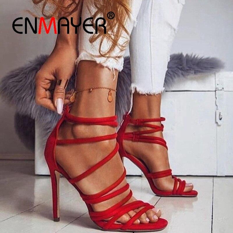 ENMAYER  Casual  Zip  Woman Shoes  Women Sandals  Sandalias De Mujer Verano 2019 Open Toe Heels  Tacos Mujer Size 34-43 ZYL2605ENMAYER  Casual  Zip  Woman Shoes  Women Sandals  Sandalias De Mujer Verano 2019 Open Toe Heels  Tacos Mujer Size 34-43 ZYL2605