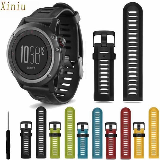 Watch Accessories For Garmin Fenix 3 Hr Soft Silicone Watch Band