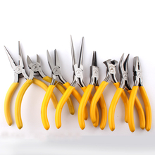 цена на 8 Typies Mini Pliers  Diagonal Wire Cable Cutting Pliers Side Snips Flush Pliers Needle Nose Pliers Jewelry Hand Tool Sets