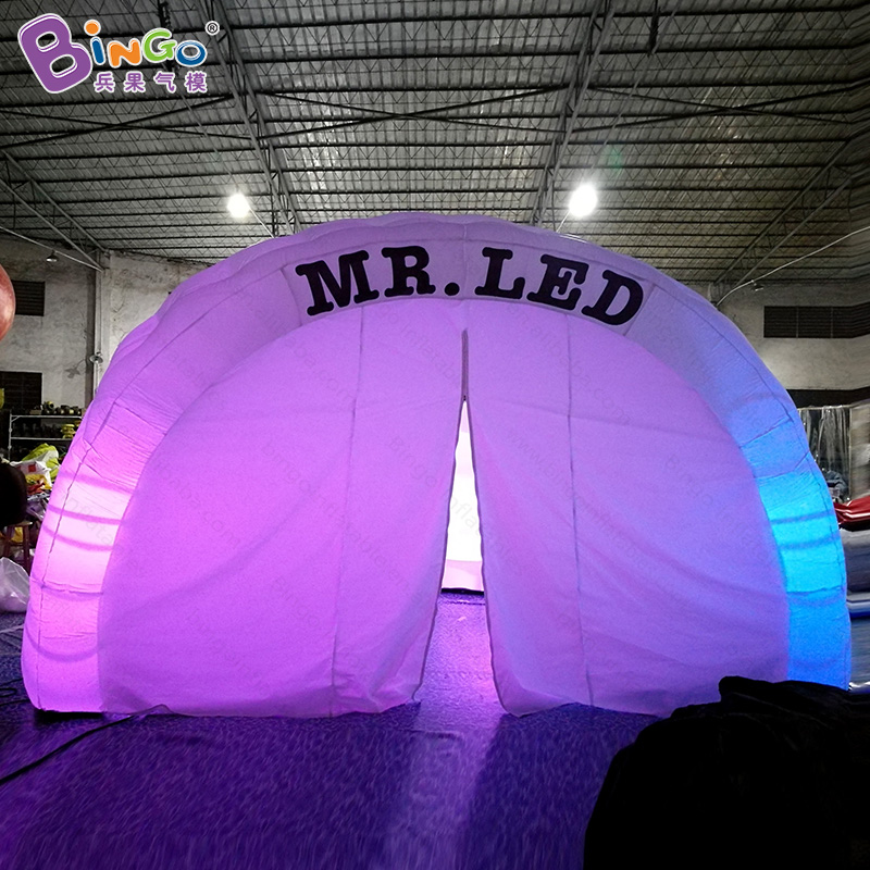 Advertising type LED lighting 5.5x4x3.5 m inflatable igloo tent for outdoor event customized canopy for commercial show toy tentAdvertising type LED lighting 5.5x4x3.5 m inflatable igloo tent for outdoor event customized canopy for commercial show toy tent