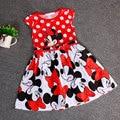 Minnie Dress Minnie Mouse Dress Baby Girl Summer Princess Dresses Girl Fashion Dress Robe Fille Enfant Vestido Minnie 1-4Y