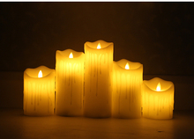 Real wax led candle Flameless lamp battery operated with timer Amazing life-like flickering flame