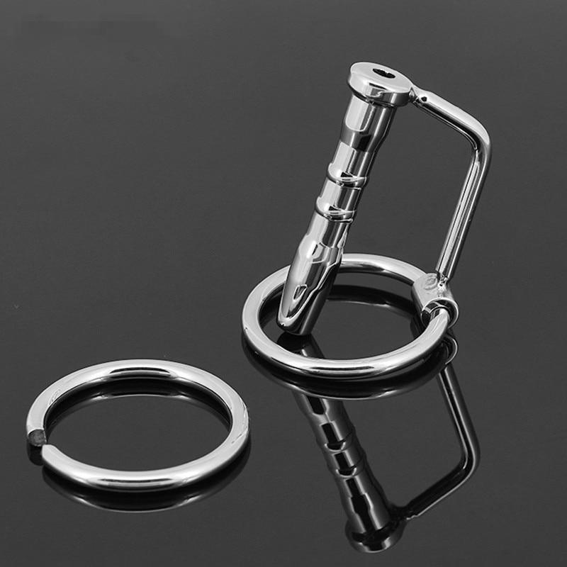 Smooth stainless steel penis catheter, urethral plug metal galery men's fetish sex toys adult games, sounding