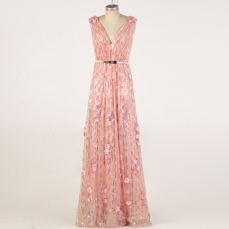 Coniefox 30856 vestidos de noche más tamaño sequined sin mangas ...