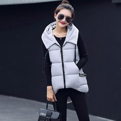 Cheap wholesale 2017 new Autumn Winter Hot sale women's fashion casual studentdown cotton popular hooded cute pure color jacket