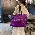 Прозрачные женские сумки-тоут из ПВХ, пляжные сумки для конфет и желе, женские летние большие повседневные сумки через плечо June3