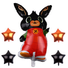 86*60cm Bing Bunny Foil Balloon Cartoon Rabbit Balloons Children Birthday Party Decor Supplies Toys