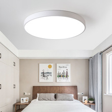 LED modern White & Black color ceiling lights acrylic ceiling lamps for kitchen living room bedroom study corridor hotel room