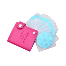 Portable 24 Slots Leather Nail Art Stamping Plate Case Bag Folder Stamp Template Holder Album Storage For Dia 5.6cm Stencil 1 Pc(China)