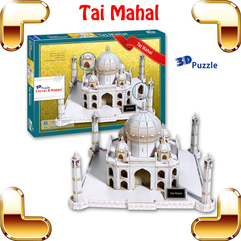 New Year Gift Tai Mahal 3d Puzzles Model Building Indian Historic Site Diy Education Toys Puzzle