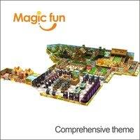Волшебный весело детский сад, открытый крытая площадка замок тематические детский парк пластиковая горка с фитнес оборудования и качели ве