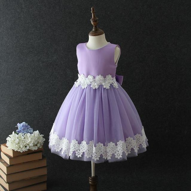 2018 new Baby Flower Girl Dresses Cheap Children Clothes Shining Floral  Party Dress for Girls Kids Wedding Tutu Dress Princess f15797ea9db9