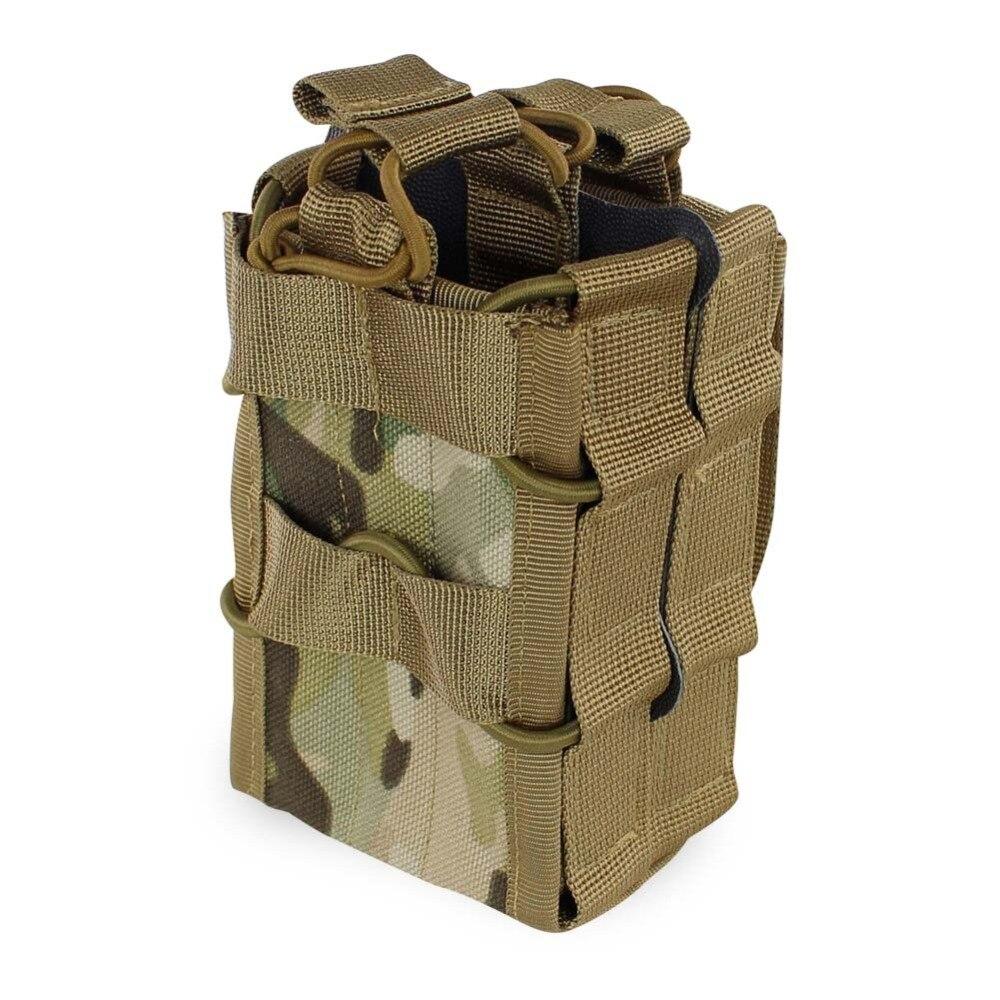 Sistema Molle Bolsa Revista 1000D Nylon Sacos de Armazenamento De Camada Dupla Airsoft Tactical AK AR M4 AR15 Rifle Pistol Mag Pouch