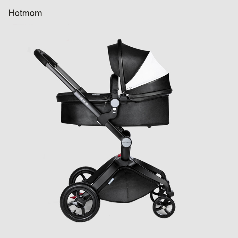 Hk Free delivery! baby strollers hot mom 3 in 1 baby carriage leather hood Pram strollers bassinet sleeping basket and car seat inventory accounting