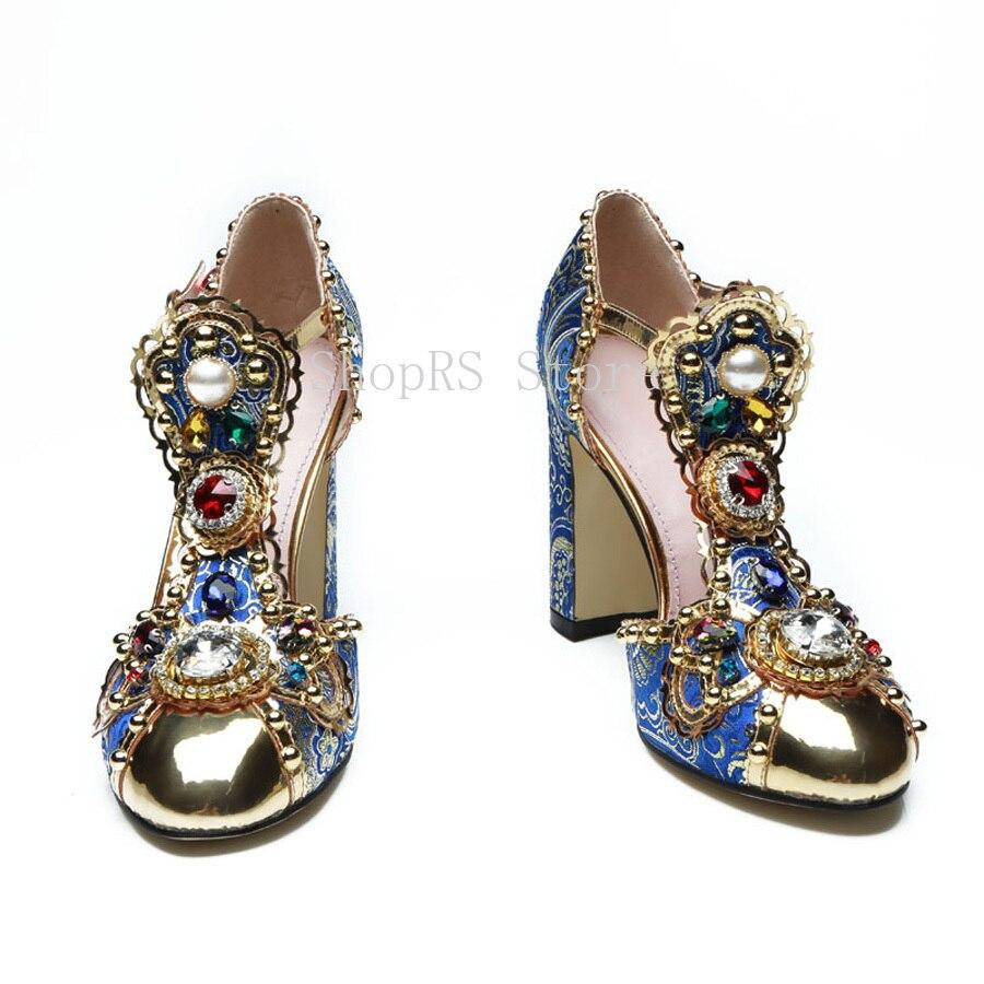 T Farbe Echt Sandalen Mixed High Pumpen Qualität Strass Picture As Strap Schuhe Leder Blume Mode Hohe Frauen Niet Heel zq5z7