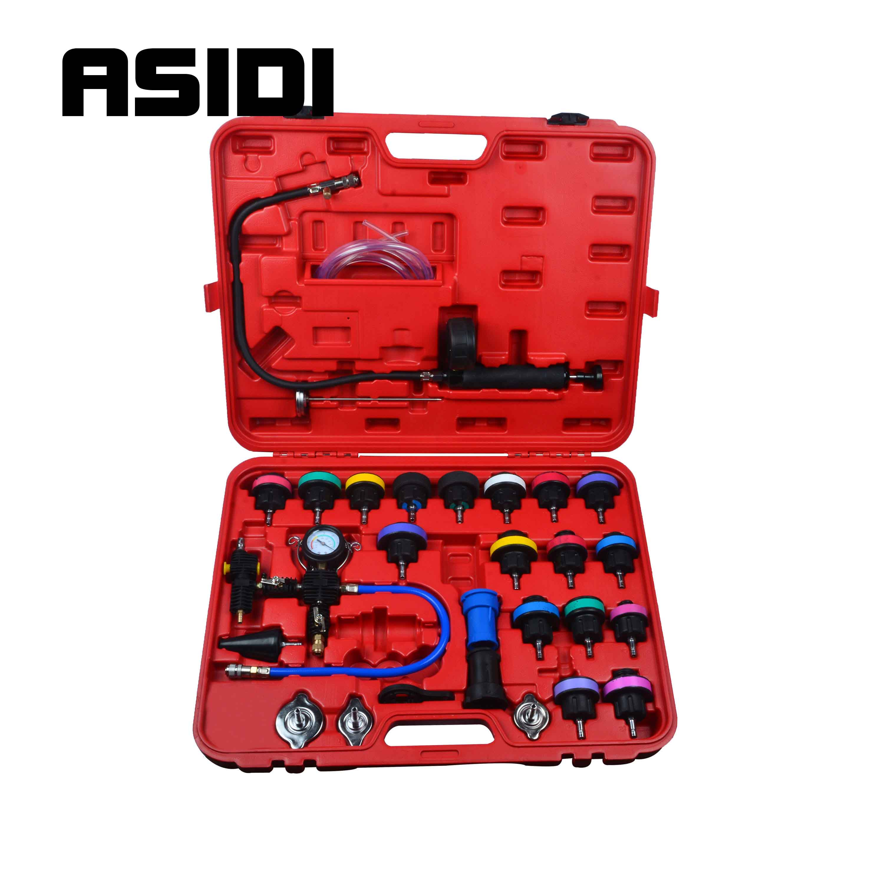 New 28Pcs Master Cooling Radiator Pressure Tester With Vacuum Purge & Refill Kits