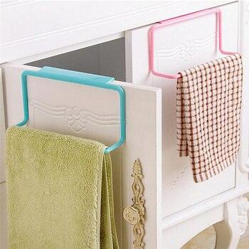 1 Uds. Toallero de color caramelo sobre la puerta, barra de suspensión de armario, gancho para baño, cocina, Organización del hogar superior