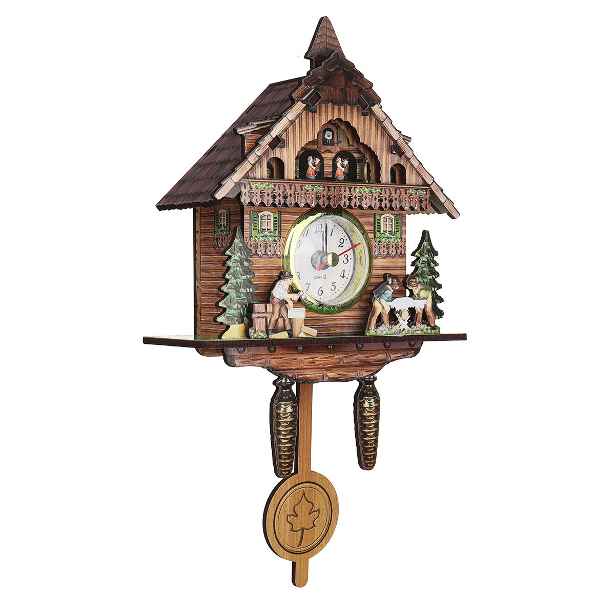 3 Style Cuckoo Clock Wall Clock Living Room Bird Alarm Clock Watch Hanging Wooden Bell Pointer Home Decor