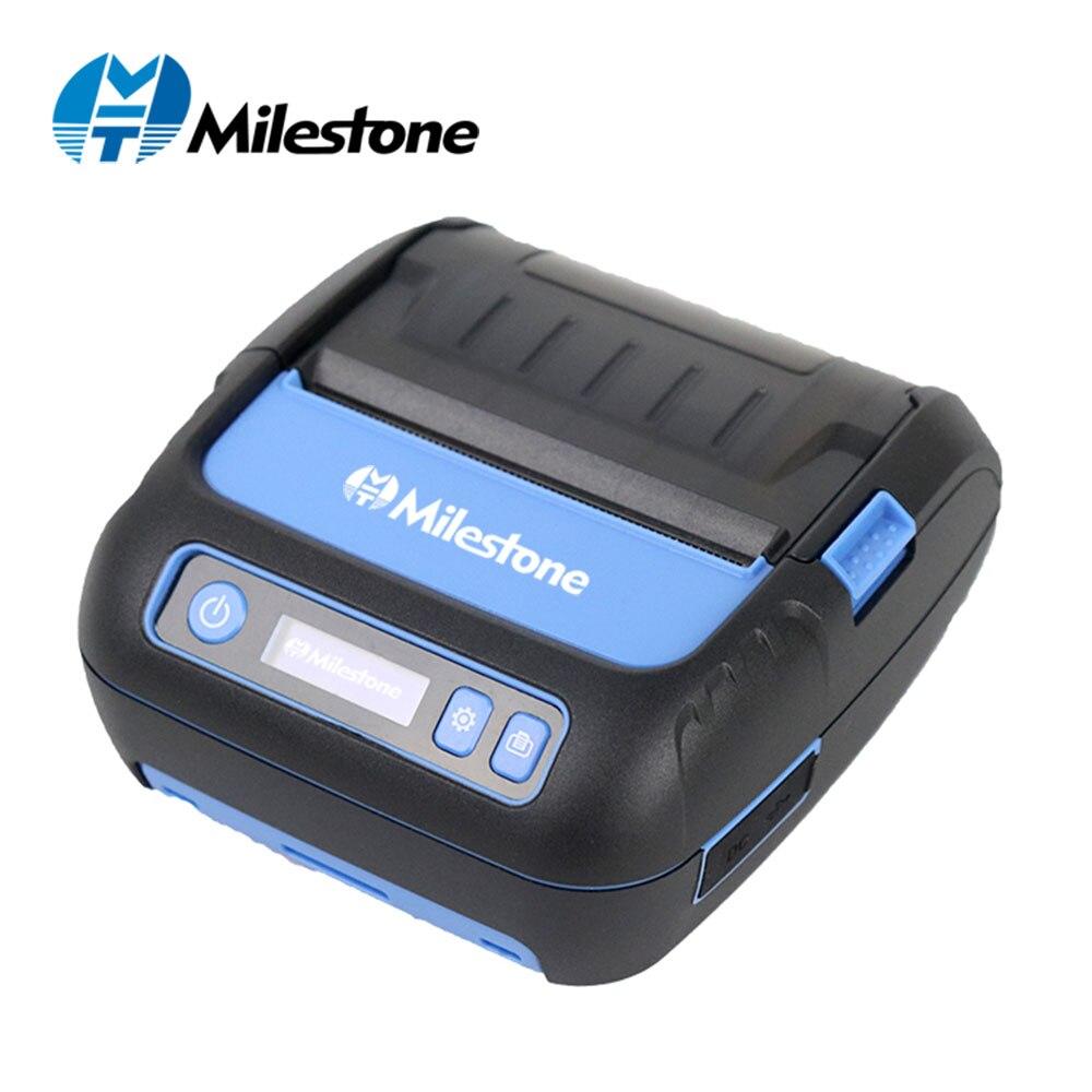 Pietra miliare Stampante di Etichette Stampante Termica Stampante di Ricevute 80 millimetri Stampante Portatile Mini Mobile Bluetooth Label Maker Supporto POS Android IOS