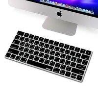 XSKN Arabic Language Silicone Keyboard Cover For Magic Keyboard For Apple Wireless Keyboard Magic Keyboard Black