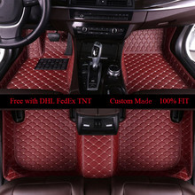 OLPAY Leather Floor Mats For Mercedes Benz W203 W210 W211 AMG W204 A B C E S CLASS CLS CLK CLA SLK GLA GLC GLS A20 Carpet Cover 6d luxury pu leather car seat covers universal 5 seat covers for mercedes benz w203 w210 w211 amg w204 c e s cls clk cla slk