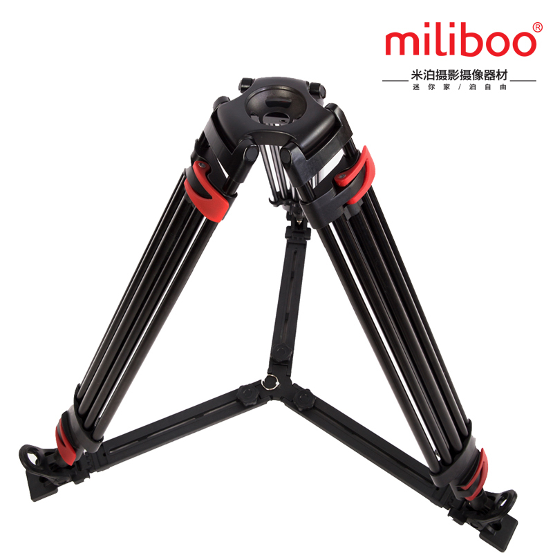 miliboo MTT609A(without head) Portable Aluminium Tripod for Professional Camcorder/Video Camera/DSLR Tripod Stand aluminium alloy professional camera tripod flexible dslr video monopod for photography with head suitable for 65mm bowl size
