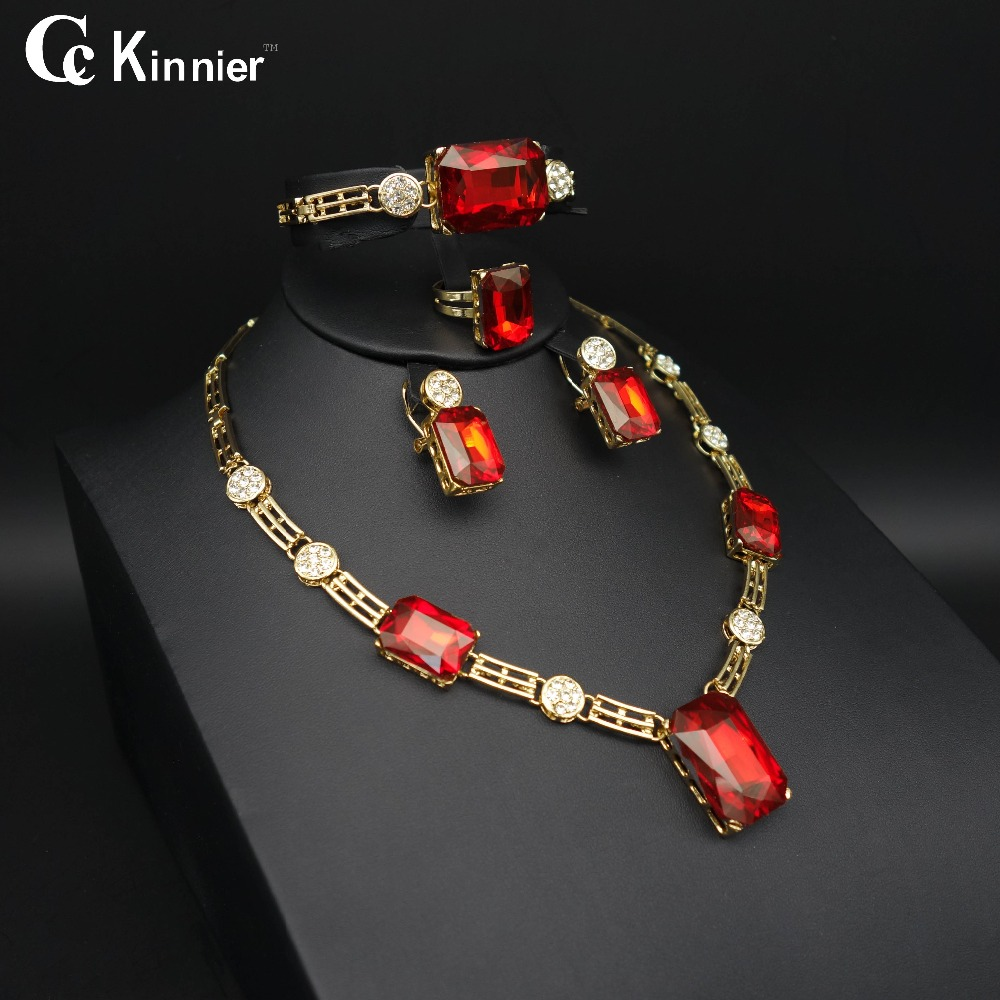 Aliexpress : Buy Nigeria Wedding African Pearl Earrings Dubai Fashion  Wedding Red Necklace Bracelet Ring Gold Color Set Fashion Jewelry Africa  From