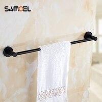 Bathroom 60CM Single Towel Bar Towel Rack Towel Holder Solid Brass Matte Black Or Matte White