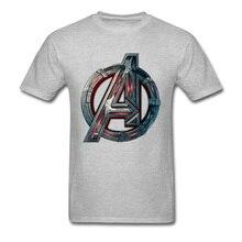 Men T Shirt Avengers Logo