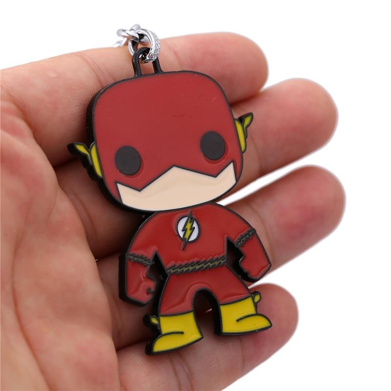 J Store for Flash Cartoon Super Hero Zinc Alloy Keychain Կանանց - Նորաձև զարդեր - Լուսանկար 5