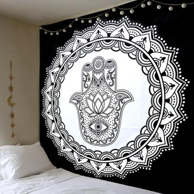 Chic Bohemia Mandala Floral Carpet Wall Hanging Tapestry For Wall Decoration Fashion Tribe Style Tapestry