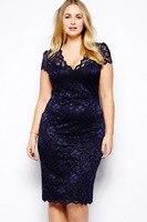 Plus Size XXXL Women Clothing Summer New 2014 Female Lady Vintage Large Size Lace Elegant Dress